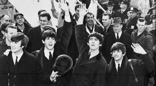 The Beatles arrive at John F. Kennedy International Airport, 7 February 1964 (Wikidepia)