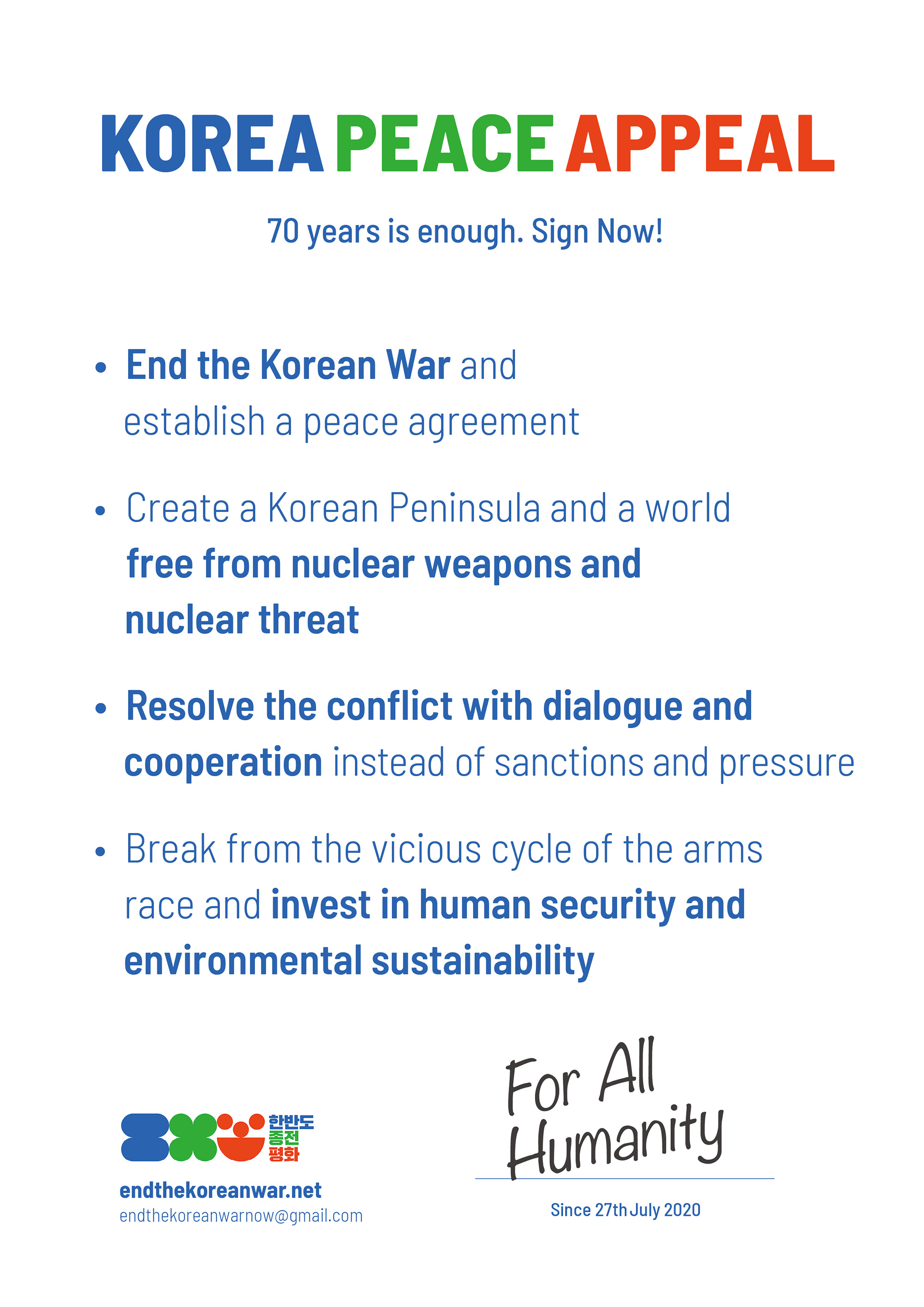Korea Peace Appeal
