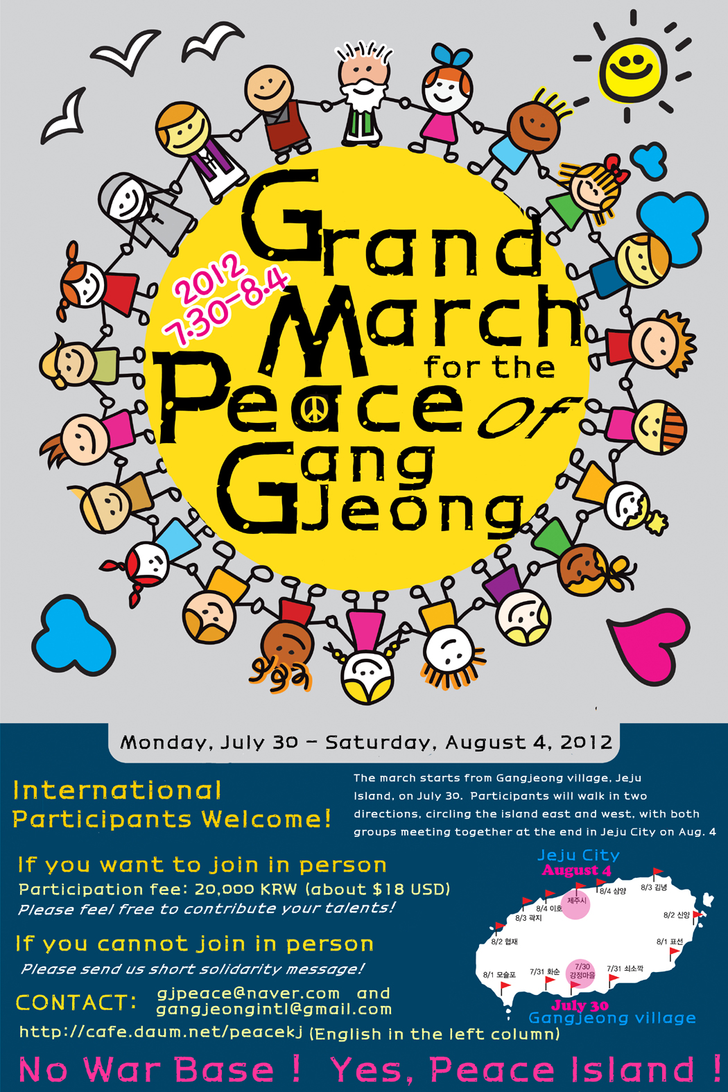grand march for peace of Gangjeong